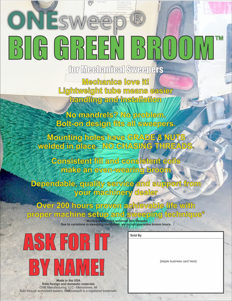 big green broom flyer